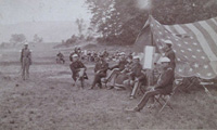 Civil War Tent and Officers