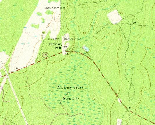 Battle Of Honey Hill Sc Maps