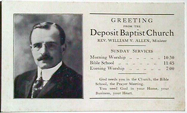 Greetings from the Deposit Baptist Church