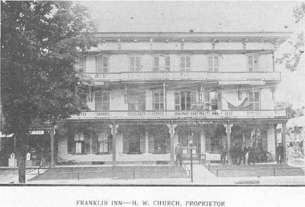 Franklin Inn - H. W. Church, Proprietor