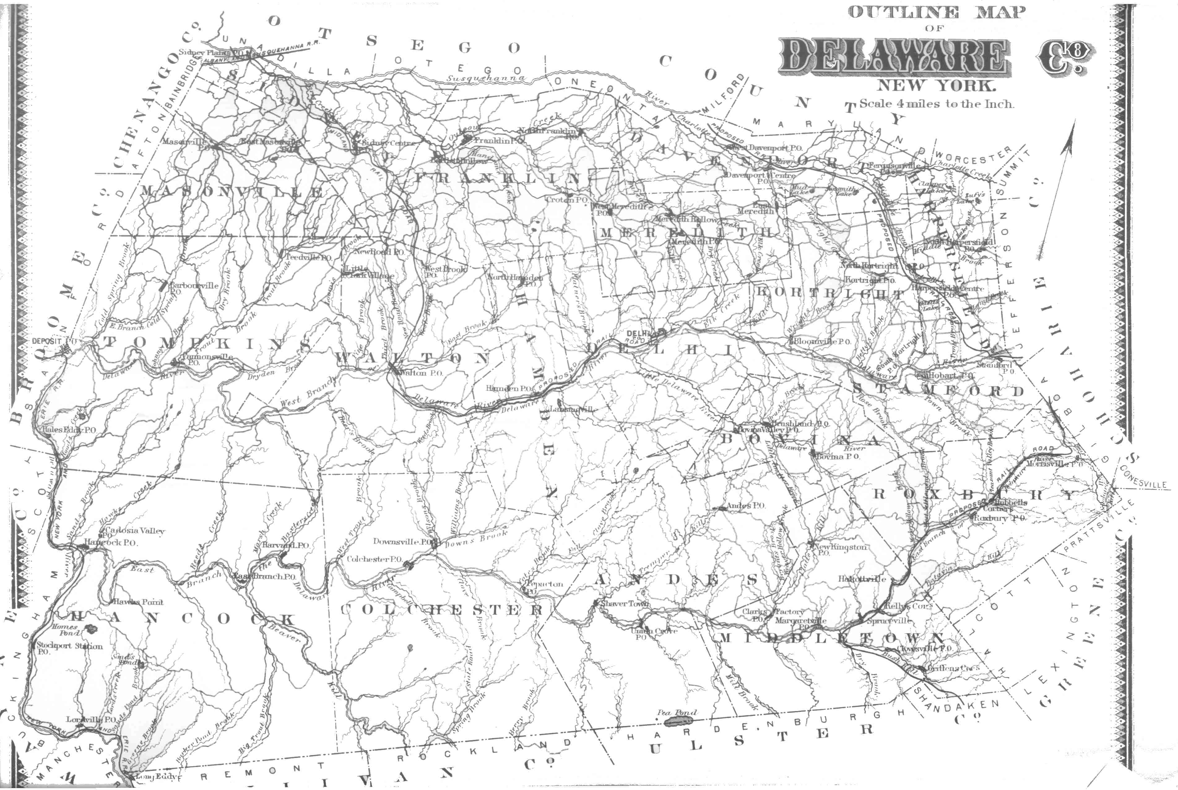 Index To Maps Of Delaware County  Delaware County NY