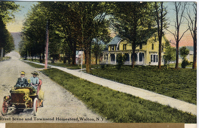 Street Scene and Townsend Homestead, Walton