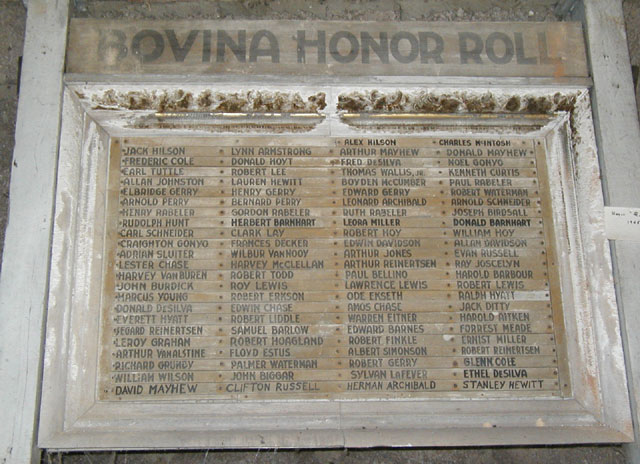 WW2 Honor Roll - Bovina, NY