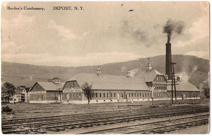 Bordens Condensery In Deposit N Y 1914 Delaware