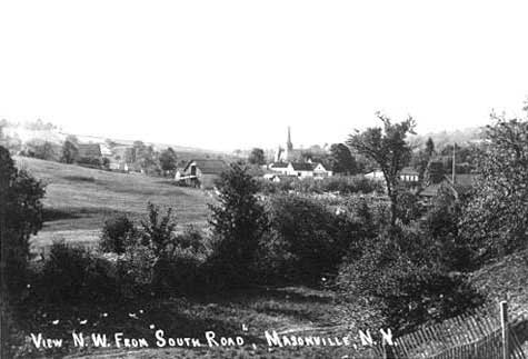 View N.W. from South Road, Masonville, N. Y.