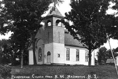 Presbyterian Church from N.W., Masonville, N.Y.