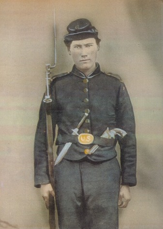 William Henry Cuyle in Civil War Uniform