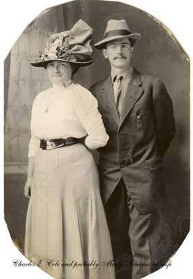 Charles E. Cole and wife Maryette Jenkins