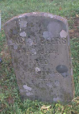Laura Beers Gravestone at Pine Cemetery, Walton, NY