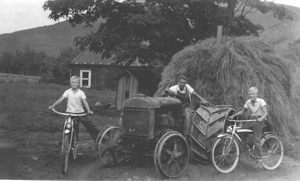 New bicycles - tractor with fresh hay