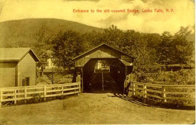 Entrance to Old Covered Bridge, Cooks Falls, NY