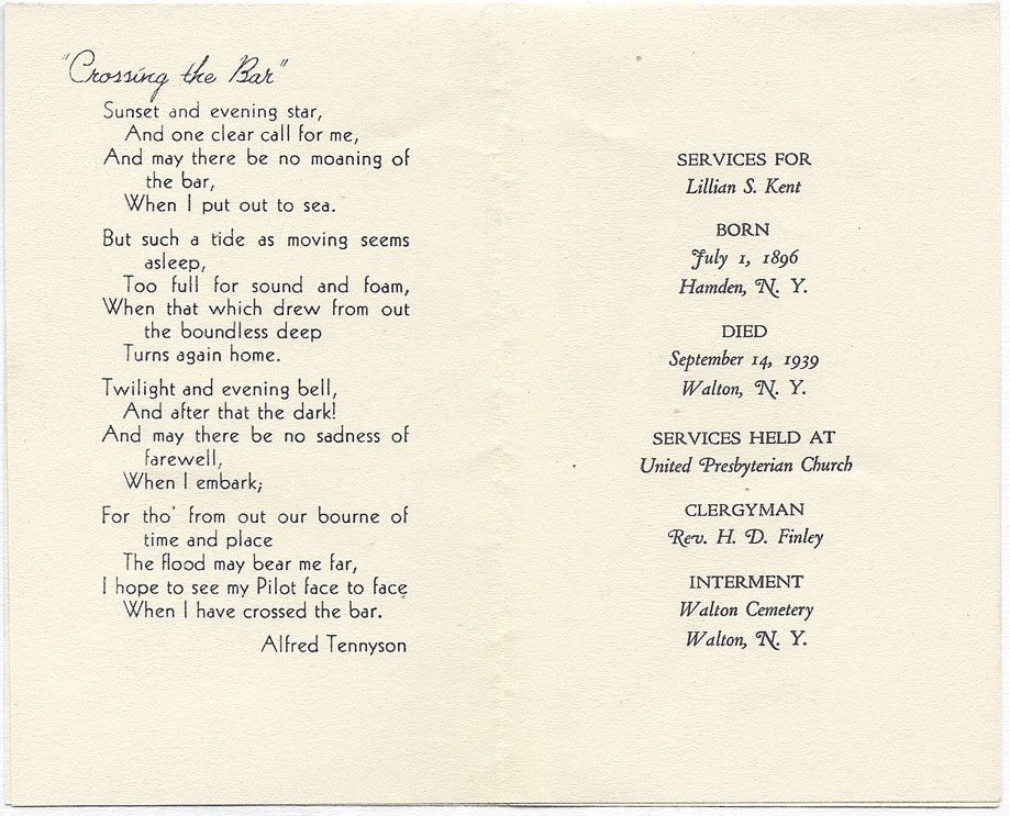 funeral services for lillian salton kent