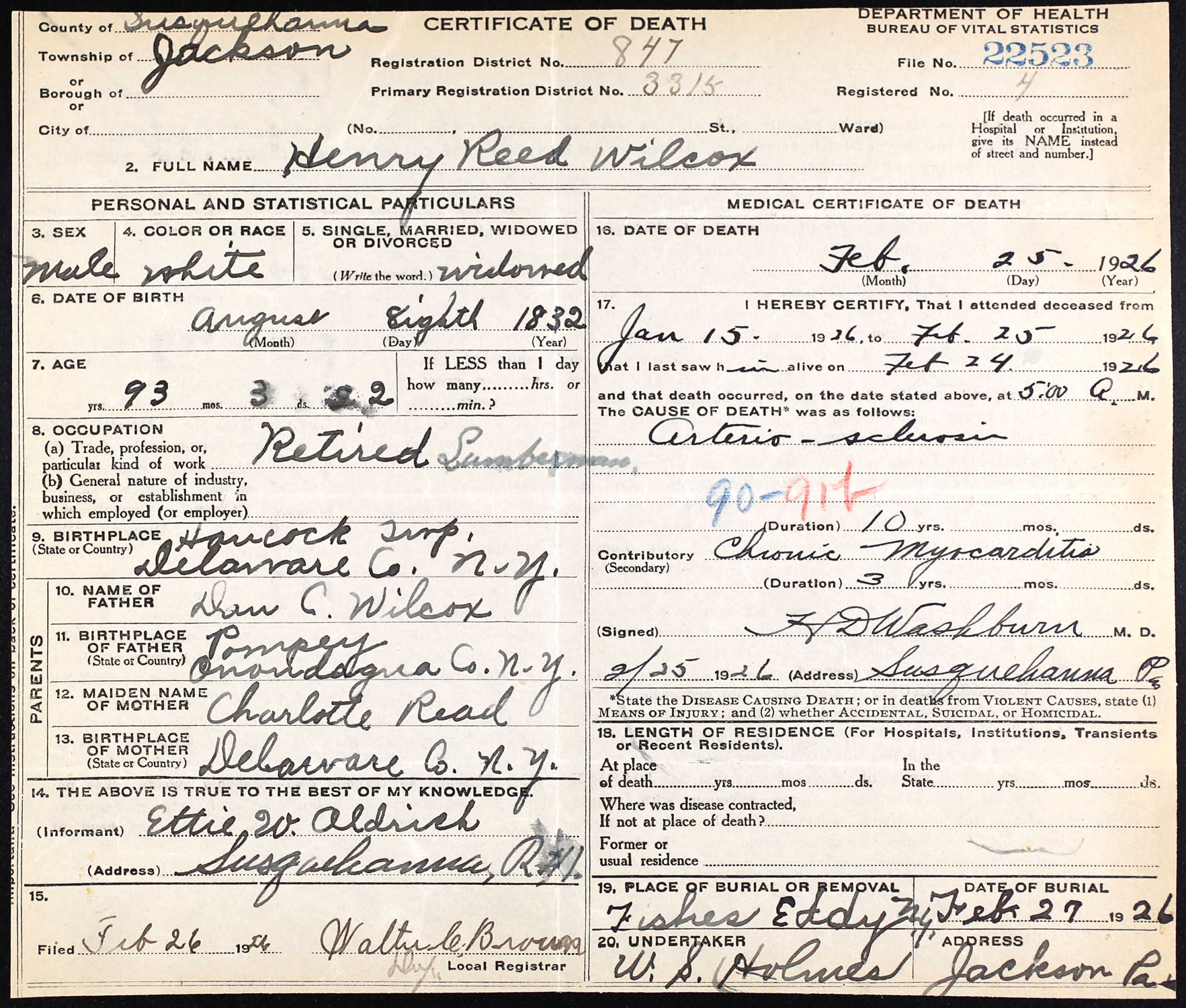 death certificates for delaware county ny