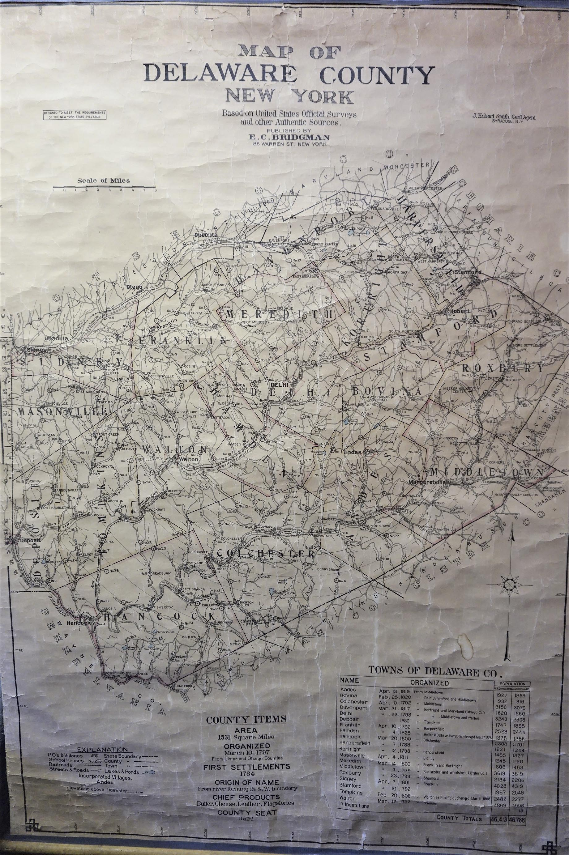 Index to Maps of Delaware County - Delaware County NY Genealogy and ...