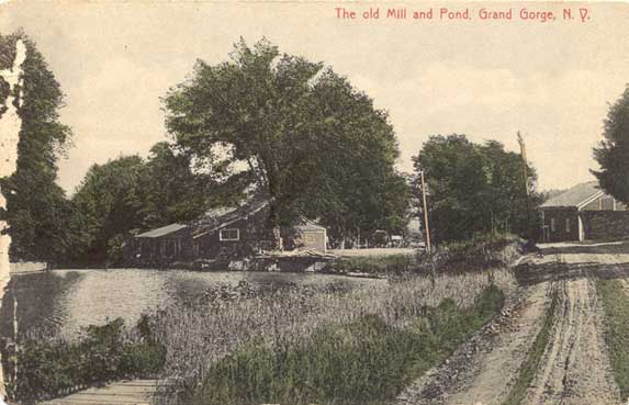 Grand Gorge, The old Mill and Pond